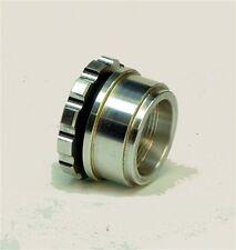 CNC SMALL ALUMINUM GAS TANK BILLET FILLER CAP, ALUMINUM WELD-ON BUNG Made in USA