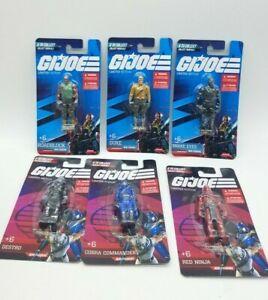 "Lot of 6  GIJoe / Cobra Carded 2.5"" Tall Mini Figures /  2021"