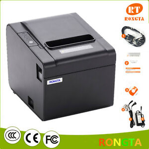 250mm/s Direct Thermal Receipt Printer 80MM POS with USB/Serial/Ethernet Port