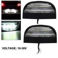 2PCS 12/24V LED Rear License Number Plate Light Lamp Truck Caravan Lorry Trailer