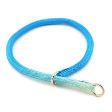 """HAMILTON Round Braided Nylon Choke Dog Collar, 22"""" x 3/8"""", Turquoise (Faded)"""