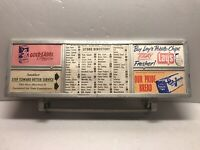 Vintage Metal Grocery Store Cart Store Ad Store Aisle Food Directory Display