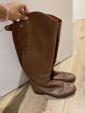 Chloé Brown Leather Boots Size 35.5 UK 2.5