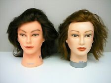 2 x Mannequin Hairdressing Heads, Cortney & Angie