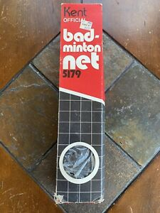 Vintage NOS Kent Official Badminton Weather Proofed Cotton Mesh Net 20' X 2.5'