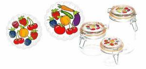 Barattolo per conserve spezie click olga vegetable con tappo 1000 cc
