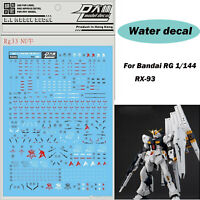 Gundam decals Chinese Characters for different scales model kit 5902 Black