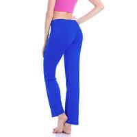 Women Yoga Plain Pants Sweatpants Jogging Bottoms Sports Workout Casual Trousers