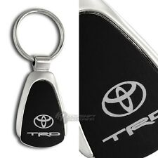 Toyota TRD Logo Black Tear Drop Authentic Key Fob Keyring Keychain Lanyard