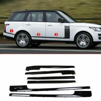 6*Gloss Black Door Side Moulding Strips Trim For Range Rover Vogue LR405 2014-18