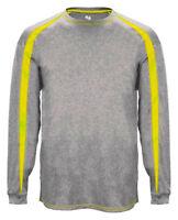 Badger Men's Self Fabric Performance Fusion Long Sleeve Athletic T-Shirt. B4350