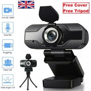 1080P Full HD Streaming Webcam Microphone for PC Mic Video Calling Conference