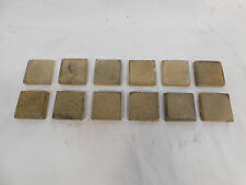 Twelve - U.S. Encaustic Tile Co. No. 5 2x2 Tiles - C. 1900 Architectural Salvage