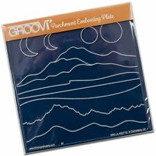Groovi Plate A5 Square Mountain Hills