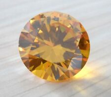 AAAAA Natural Yellow Sapphire Round Faceted Cut VVS Loose Gemstone U Pick Size