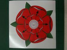 Lancashire Rose Narrow boat / Caravan / Motor home  Vinyl Sticker 40 cms
