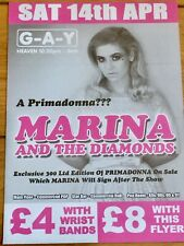 MARINA AND THE DIAMONDS PRIMADONNA - G-A-Y FLYER-LOVE + HATE