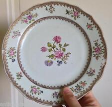 Belle Assiette Porcelaine Compagnie des Indes XVIIIeme fleurs