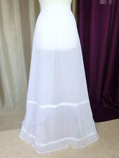 Jupon vintage robe de mariée en tulle blanc Taille FR38 US6 UK10 EUR36