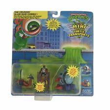 Vintage 1989 Ninja Turtles TMNT Mini Mutants Turtle Transports Crushin' Slam Bam