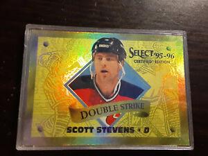 1995-96 Select Certified Double Strike Gold #18 Scott Stevens  /903