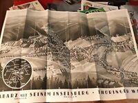 1938 Thüringen Tabarz Luftkurort Thüringer Wald - Karte Fremdenverkehr Prospekt