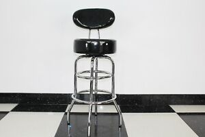 American Diner Retro Style Black Stool Chair Furniture Kitchen