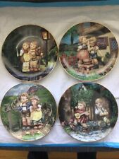Danbury Mint M J Hummel Lot Of 4 Little Companions Collectors Plates Lot B