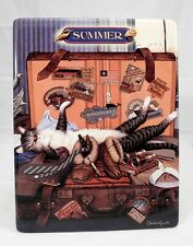 """Charles Wysocki"""" Summer"""" Mabel the Stowaway in Purr-fect Times series - Rare"""