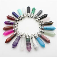 Natural Gemstones Hexagonal Pointed Reiki Chakra Pendant for Earrings Necklace