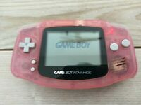 Game Boy Advance Clear Pink AGB-001 Nintendo Handheld Console