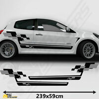 Fits Renault Sports Side Racing Stripes Graphics Tuning Car Clio Cup