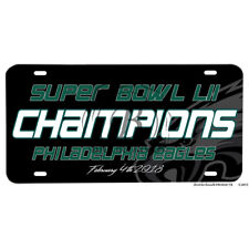 Super Bowl LII Champions Philadelphia Eagles 2018 Aluminum License Plate