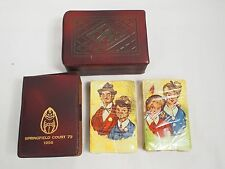 Masonic Temple Playing Cards Springfield Court 73 1956 Cards Sealed Leather Case
