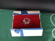 Swarovski Blume (rot), silver crystal, original