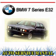 BMW 7 Series E32 1988-1994 SERVICE REPAIR MANUAL ~ DVD