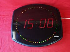 OROLOGIO DA PARETE A LED MULTICOLORE FUN TEA / PENDOLO DESIGN VINTAGE OLD CLOCK