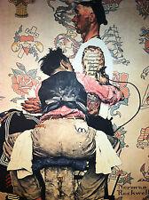 The Tattoo Artist 22x30 Art Print by Norman Rockwell body art piercing