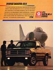 1988 Dodge Dakota 4x4 Truck - color -  Classic Vintage Advertisement Ad A71-B