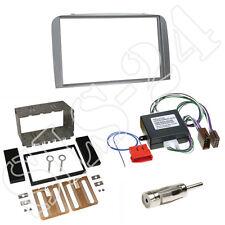 ALFA ROMEO 147 GT doppio pannello 2-din argento + sistema Attivo Radio Adattatore antenna +