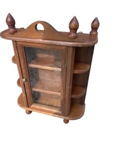 Vintage, Small Wooden Display or Curio Cabinet