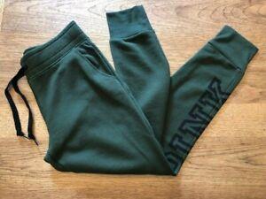PINK Victoria's Secret Dark Green SMALL Everyday Lounge Skinny Jogger Sweatpant
