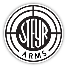 Steyr Arms Guns Pistols Rifle Vinyl Sticker Decal Car Bumper Truck Cornhole