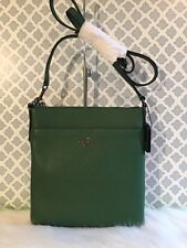 Coach Grass Green Cross Grain Leather Swingpack Courier Cross Body 52348 NWT