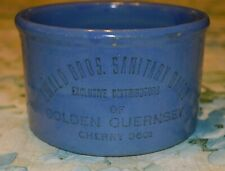 Antique Ewald Brothers Dairy Minneapolis Butter Blue Crock
