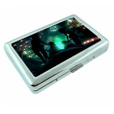 Vintage Alien Abduction D12 Silver Metal Cigarette Case RFID Protection Wallet