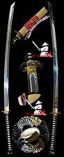 japanese samurai katana claytempered T10 steel sword copper tsuba kamasu kissaki