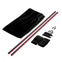 2Pcs Luxury Black VIP Car Van SUV Window Curtain UV Sunshade Visor Kit Uni XTR