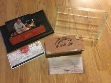 Original Montreal Forum Brick Signed by Guy Lafleur #10- DISPLAY CASE INC - COA