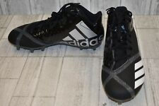 adidas 5.5 Star Mid Football Shoes, Men's Size 7.5, Black/White